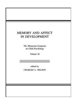 Abbildung von Nelson | Memory and Affect in Development | 1993