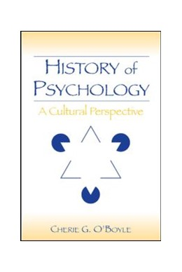 Abbildung von O'Boyle   History of Psychology   2006   A Cultural Perspective