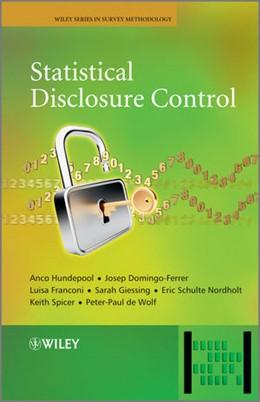 Abbildung von Hundepool / Domingo-Ferrer / Franconi | Statistical Disclosure Control | 2012