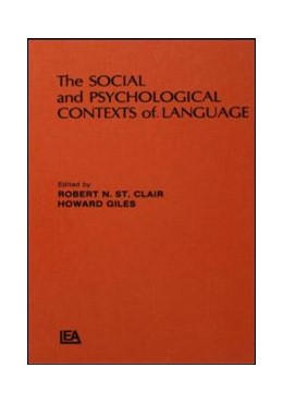 Abbildung von St. Clalr / Giles | The Social and Psychological Contexts of Language | 1982