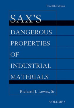 Abbildung von Lewis | Sax's Dangerous Properties of Industrial Materials | 2013 | 5 Volume Set, Print and CD Pac...