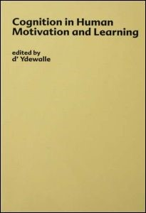 Abbildung von D'ydewalle / Lens | Cognition in Human Motivation and Learning | 1983