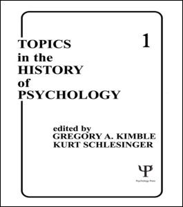 Abbildung von Kimble / Schlesinger | Topics in the History of Psychology | 1985