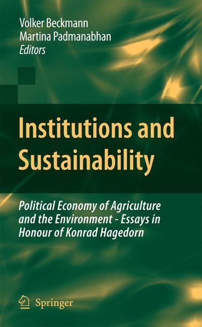Abbildung von Beckmann / Padmanabhan | Institutions and Sustainability | 2009