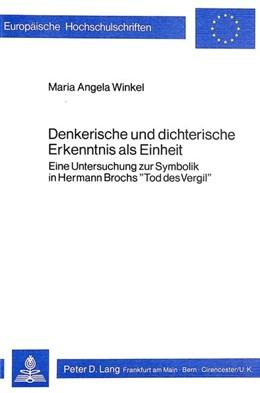 Abbildung von Winkel | Denkerische und dichterische Erkenntnis als Einheit | 1980 | Eine Untersuchung zur Symbolik... | 319
