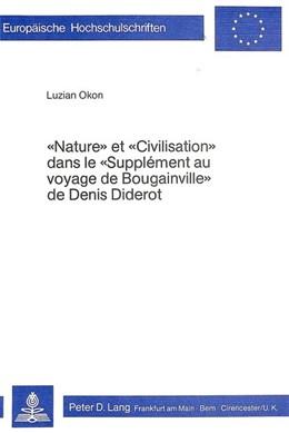 Abbildung von Okon | Nature et civilisation dans le Supplément au voyage de Bougainville de Denis Diderot | 1980 | 59