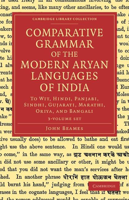 Abbildung von Beames   Comparative Grammar of the Modern Aryan Languages of India 3 Volume Set   2012