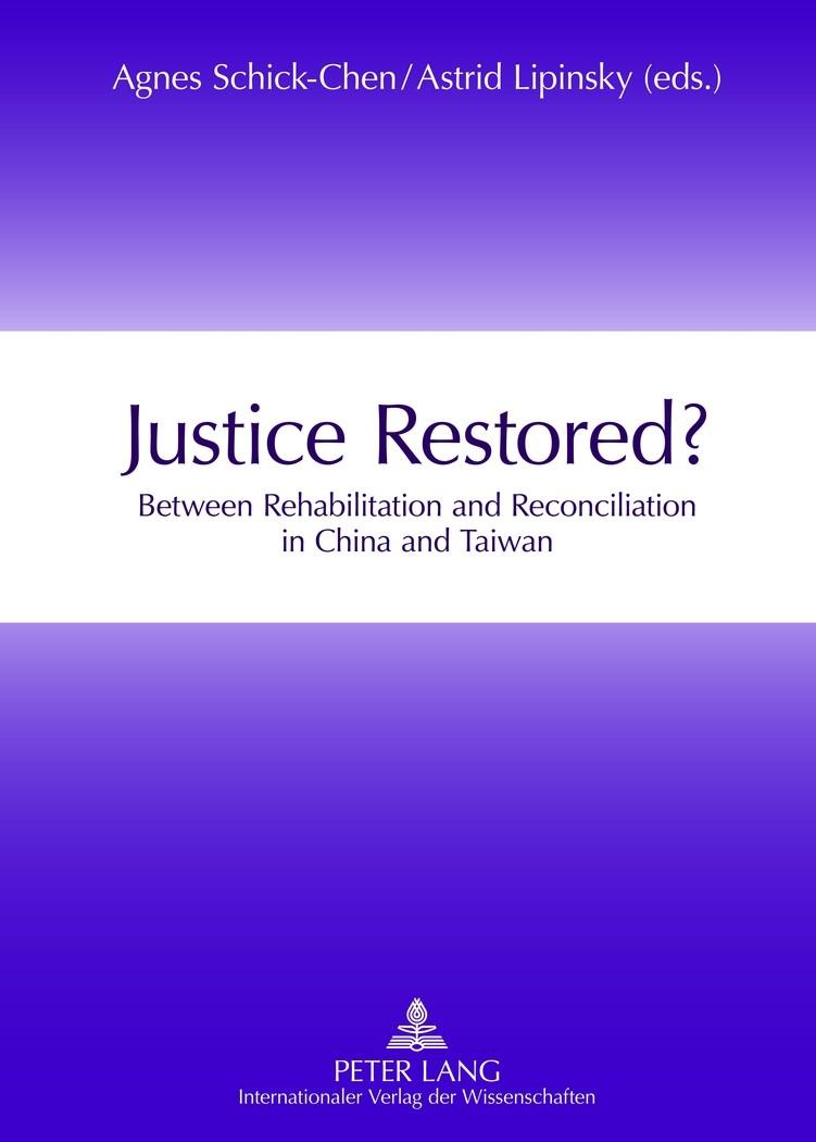 Abbildung von Lipinsky / Schick-Chen | Justice Restored? | 2012