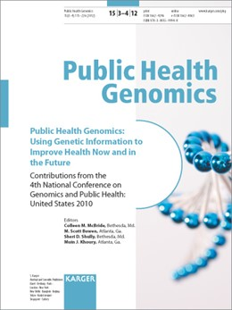 Abbildung von McBride / Bowen / Schully / Khoury | Public Health Genomics: Using Genetic Information to Improve Health Now and in the Future | 2012 | 4th National Conference on Gen...
