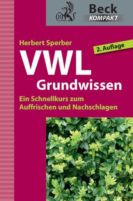 VWL Grundwissen | Sperber | 2. Auflage, 2012 | Buch (Cover)