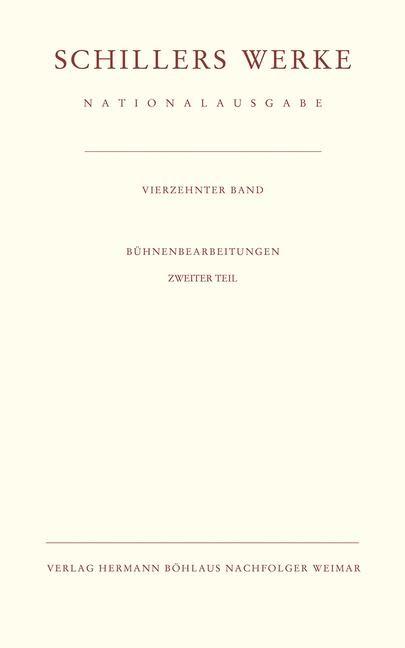 Schillers Werke. Nationalausgabe | Oellers | unveränderter Nachdruck, 1996 | Buch (Cover)
