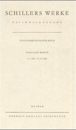 Schillers Werke. Nationalausgabe | Oellers | 8 Tafeln; Leinen, 1986 | Buch (Cover)
