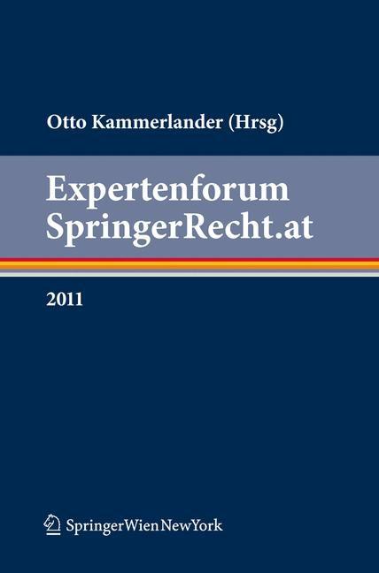 Expertenforum SpringerRecht.at | Kammerlander | 1. Auflage 2012, 2012 | Buch (Cover)