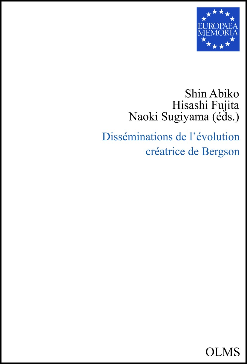 Disséminations de l'évolution créatrice de Bergson | Abiko / Sugiyama / Fujita | 2012, 2012 | Buch (Cover)