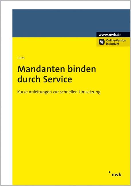 Mandanten binden durch Service | Lies, 2012 | Buch (Cover)