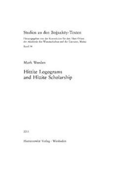 Abbildung von Weeden | Hittite Logograms and Hittite Scholarship | 2011 | 54