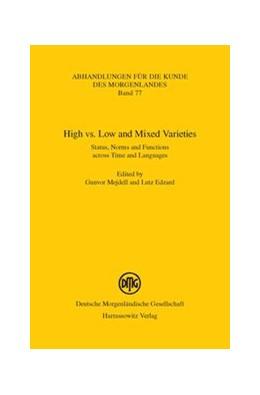 Abbildung von Mejdell / Edzard | High vs. Low and Mixed Varieties | 1. Auflage | 2012 | 77 | beck-shop.de