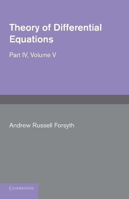 Abbildung von Forsyth | Theory of Differential Equations | 2012