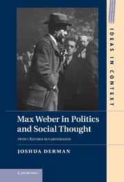 Abbildung von Derman | Max Weber in Politics and Social Thought | 2012