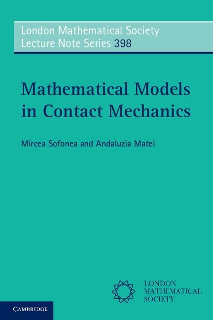 Abbildung von Sofonea / Matei | Mathematical Models in Contact Mechanics | 2012