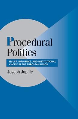 Abbildung von Jupille   Procedural Politics   2012   Issues, Influence, and Institu...