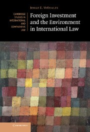 Abbildung von Viñuales | Foreign Investment and the Environment in International Law | 2012
