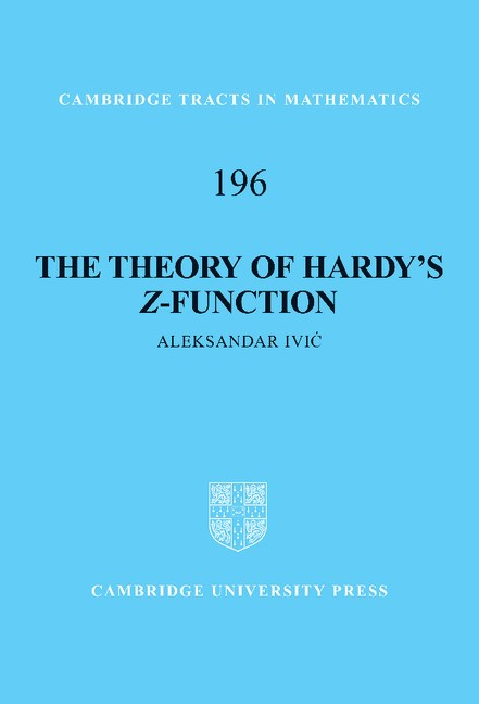 Abbildung von Ivic   The Theory of Hardy's <EM>Z</EM>-Function   2012