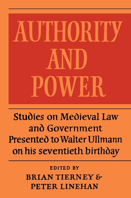 Abbildung von Tierney | Authority and Power | 2012