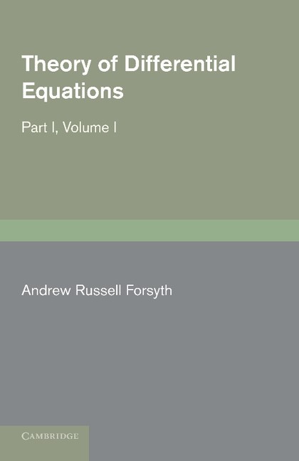 Abbildung von Forsyth   Theory of Differential Equations   2012