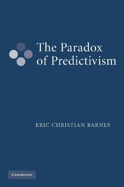 Abbildung von Barnes | The Paradox of Predictivism | 2012