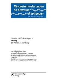 Abbildung von Mindestanforderungen an das Einleiten von Abwasser in Gewässer Anhang 41