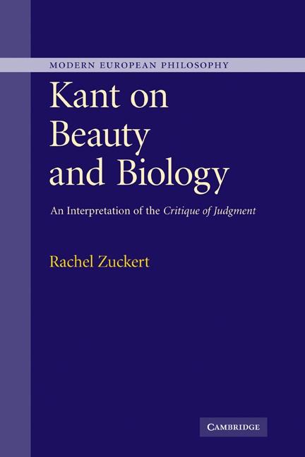 Abbildung von Zuckert | Kant on Beauty and Biology | 2007