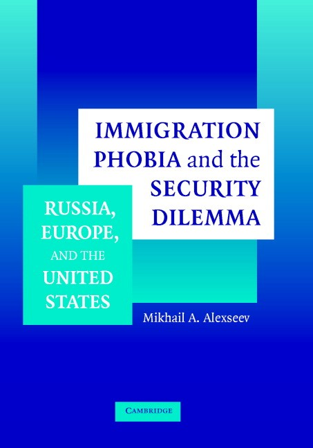 Abbildung von Alexseev | Immigration Phobia and the Security Dilemma | 2005