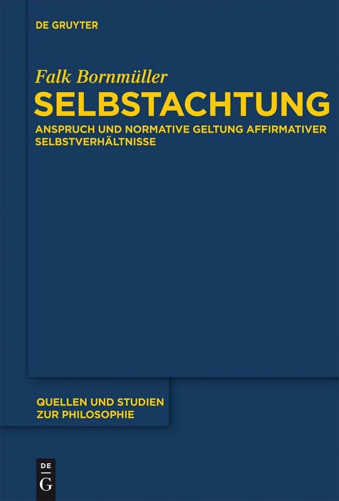 Selbstachtung | Bornmüller, 2012 | Buch (Cover)