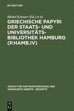 Abbildung von Kramer / Hagedorn | Griechische Papyri der Staats- und Universitätsbibliothek Hamburg (P.Hamb.IV) | 1998 | 1998 | 4