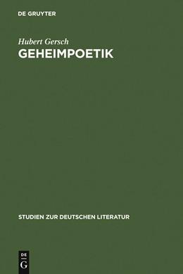 Abbildung von Gersch | Geheimpoetik | 1973 | Die