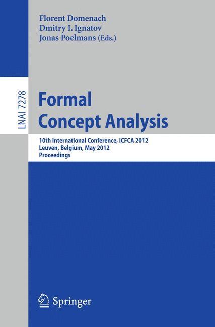 Abbildung von Domenach / Ignatov / Poelmans | Formal Concept Analysis | 2012