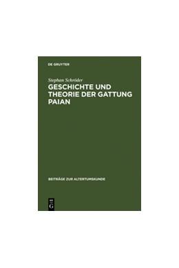 Abbildung von Schröder | Geschichte und Theorie der Gattung Paian | Reprint 2011 | 1999 | Eine kritische Untersuchung mi... | 121