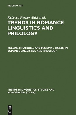 Abbildung von Posner / Green | National and Regional Trends in Romance Linguistics and Philology | 1982