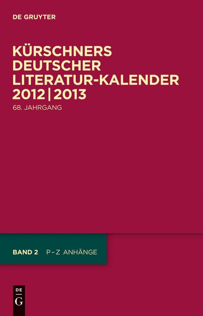 2012/2013 | 68. Jahrgang, 2012 | Buch (Cover)