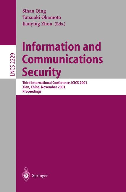 Information and Communications Security | Okamoto / Zhou, 2001 | Buch (Cover)