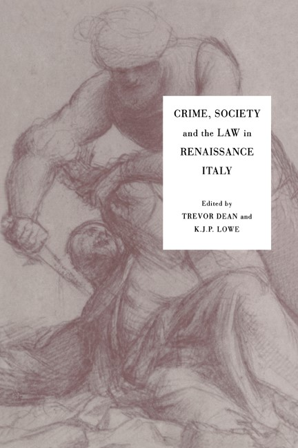 Abbildung von Dean / Lowe | Crime, Society and the Law in Renaissance Italy | 1994