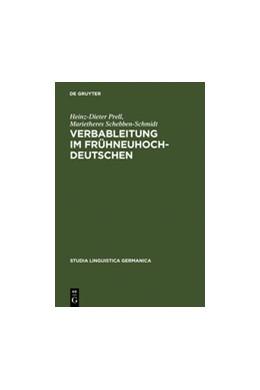 Abbildung von Prell / Schebben-Schmidt | Verbableitung im Frühneuhochdeutschen | Reprint 2011 | 2011