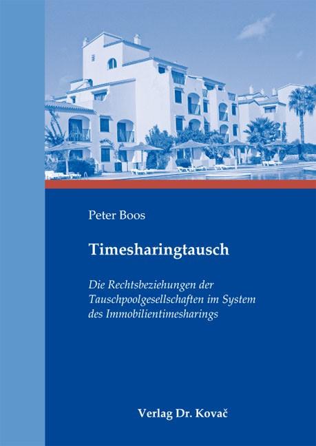 Timesharingtausch | Boos | 1. Auflage 2012, 2012 | Buch (Cover)