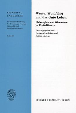 Abbildung von Laufhütte / Lüdeke | Werte, Wohlfahrt und das Gute Leben. | 2002 | Philosophen und Ökonomen im Et... | 90
