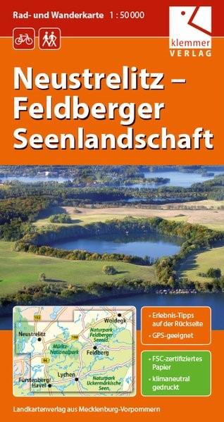 Neustrelitz - Feldberger Seenlandschaft 1 : 50 000 Rad- und Wanderkarte | Kuhlmann / Wachter / Klemmer | 2., veränderte Auflage., 2016 (Cover)