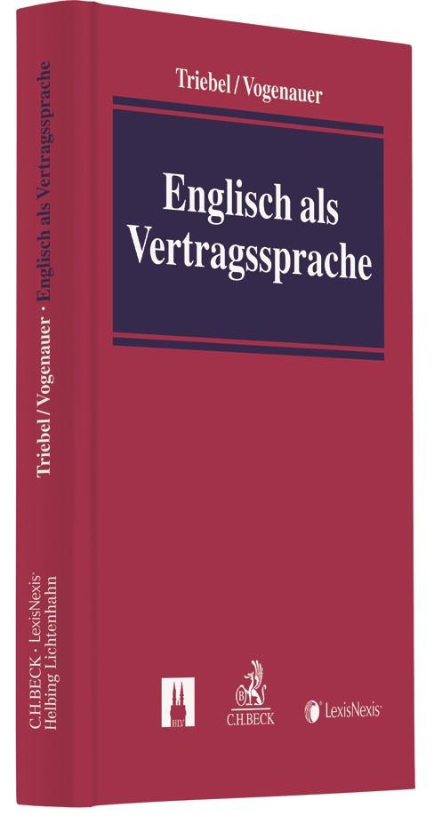 Englisch als Vertragssprache | Triebel / Vogenauer, 2018 | Buch (Cover)