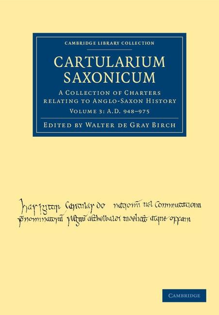 Abbildung von Birch   Cartularium Saxonicum   2012