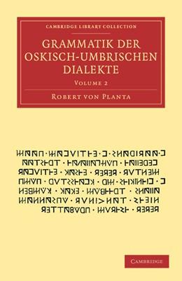 Abbildung von Planta | Grammatik der Oskisch-Umbrischen Dialekte | 2012