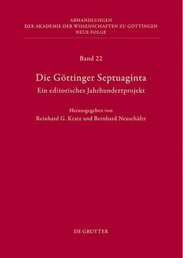 Abbildung von Kratz / Neuschäfer   Die Göttinger Septuaginta   2013   Ein editorisches Jahrhundertpr...   22